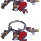 Disney Key Chain Minnie Mouse 2 Key Chains with Charms