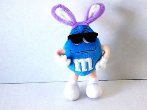 """M&M's stuffed doll with Rabbit Ears and Glasses 7"""" 2001 Buy it now $4.99"""