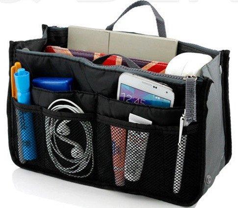 Black Makeup Organizer Bag Men Casual Travel Bag Women Cosmetic Bags Storage Bag in Bag