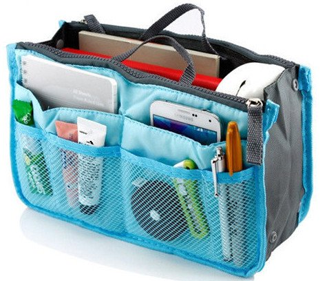 Blue Makeup Organizer Bags Women Cosmetic Bags Ourdoor Travel Wash Bag Bolsas Toiletry