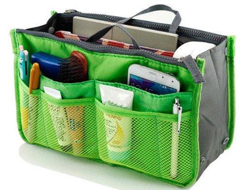 Green Makeup Bag Multi Function Travel Organizer Women Cosmetic Bags Travel Bag Ladies Bolsa