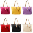 Lady Womens Faux Leather Messenger Handbag Fashion PU Shoulder Bag Totes Purse
