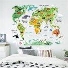 DIY Cartoon Animal World Map Wall Sticker Decal Vinyl Art Kids Children Room Office Home Decor