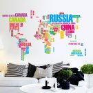 PVC Wall Stickers Letter World Map Quote Removable Vinyl Decal Art Mural Home Decor Wall Stickers