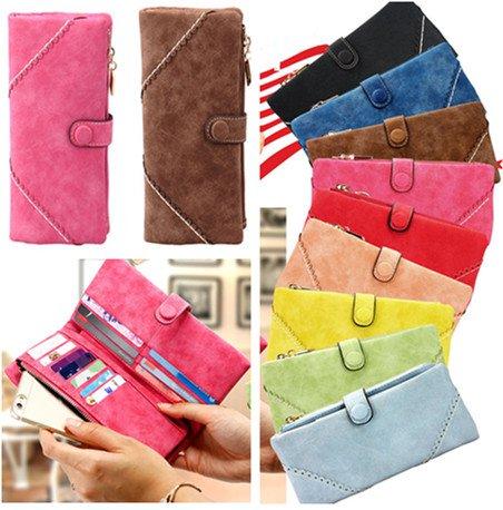 Fashion Women PU Leather Clutch Long Wallets Ladies Cell Phone Card Holder Purse Handbag