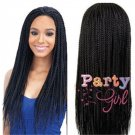 Synthetic Long Black Braiding Hair Box Braided Wigs for Black Women