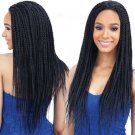 None Lace Front Wigs Afro American Braided Wigs for Black Women Box Braid Wig