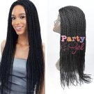 "22"" Long Synthetic Afro American Senegalese Braids Twist Braided Wigs For Black Women"