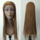 Long Blonde Micro Box Braid Wig Synthetic Nonce Lace Front african americann Wigs For Black Women