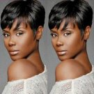 Short Black Wigs for Black Women Synthetic Short Straight Wigs