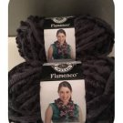 Loops & Threads FLAMENCO 2 Balls, Pom Pom Scarf, Color: Slate