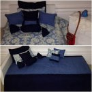 "Denim and Damask American Girl Doll or 18"" Doll 9 Piece Bedding Set"