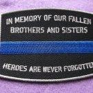 Fallen Officer Memorial Blue Line Patch