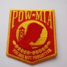 POW MIA Red and Yellow Patch