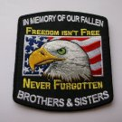 In Memory Of Our Fallen Military Brothers and Sisters Patch