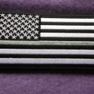 Thin Silver Line American Flag For Corrections Patch
