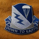 507th Airborne Infantry Regiment Patch Down To Earth - Version A