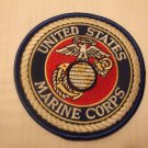 U.S. MARINE LOGO BLUE BACKGROUND PATCH