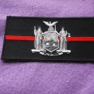 THIN RED LINE NEW YORK STATE FLAG PATCH FOR FIREFIGHTERS