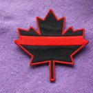 THIN RED LINE CANADIAN MAPLE LEAF PATCH