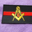 MASONIC THIN RED LINE FOR FIREFIGHTERS PATCH
