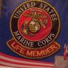 U.S. MARINE CORPS LOGO LIFE MEMBER PATCH