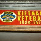 VIETNAM VETERAN 1959-1975 BUMPER STICKER