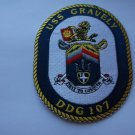 USS GRAVELY DDG-107 Navy Guided Missile Destroyer Patch
