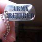 U.S. ARMY RETIRED DOG CHAIN PIN