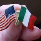ITALY/US FLAG PIN