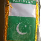 PAKISTAN  FLAG WINDOW MINI BANNER