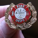 FIRE DEPARTMENT WITH WREATH PIN