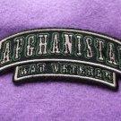 AFGHANISTAN WAR VETERAN ROCKER PATCH
