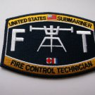 Weapons Rating Submarine Fire Control Technician Patch
