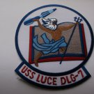 USS Luce DLG-7 Ship Patch - Version B
