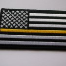 Thin Yellow Line American Flag Patch For Dispatchers, Security Officers Loss Pre