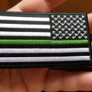 Thin Green Line American Flag Reversed Patch For Customs And Border Patrol