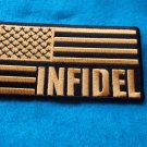 INFIDEL AMERICAN FLAG BLACK AND YELLOW PATCH