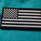 AMERICAN FLAG BLACK AND WHITE PATCH