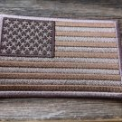 SUBDUED AMERICAN FLAG BROWN PATCH