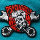 Psychobilly Skull and Wrenches Biker Patch