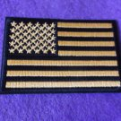 US Flag Black and Yellow Patch