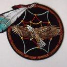 Feather Dreamcatcher Eagle Native American Biker Patch