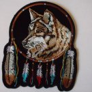 Wolf And Feathers Native American Biker Patch