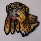 LONE WOLF HOWLING AT THE MOON BIKER PATCH