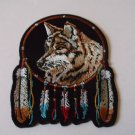 WOLF AND FEATHERS BIKER PATCH