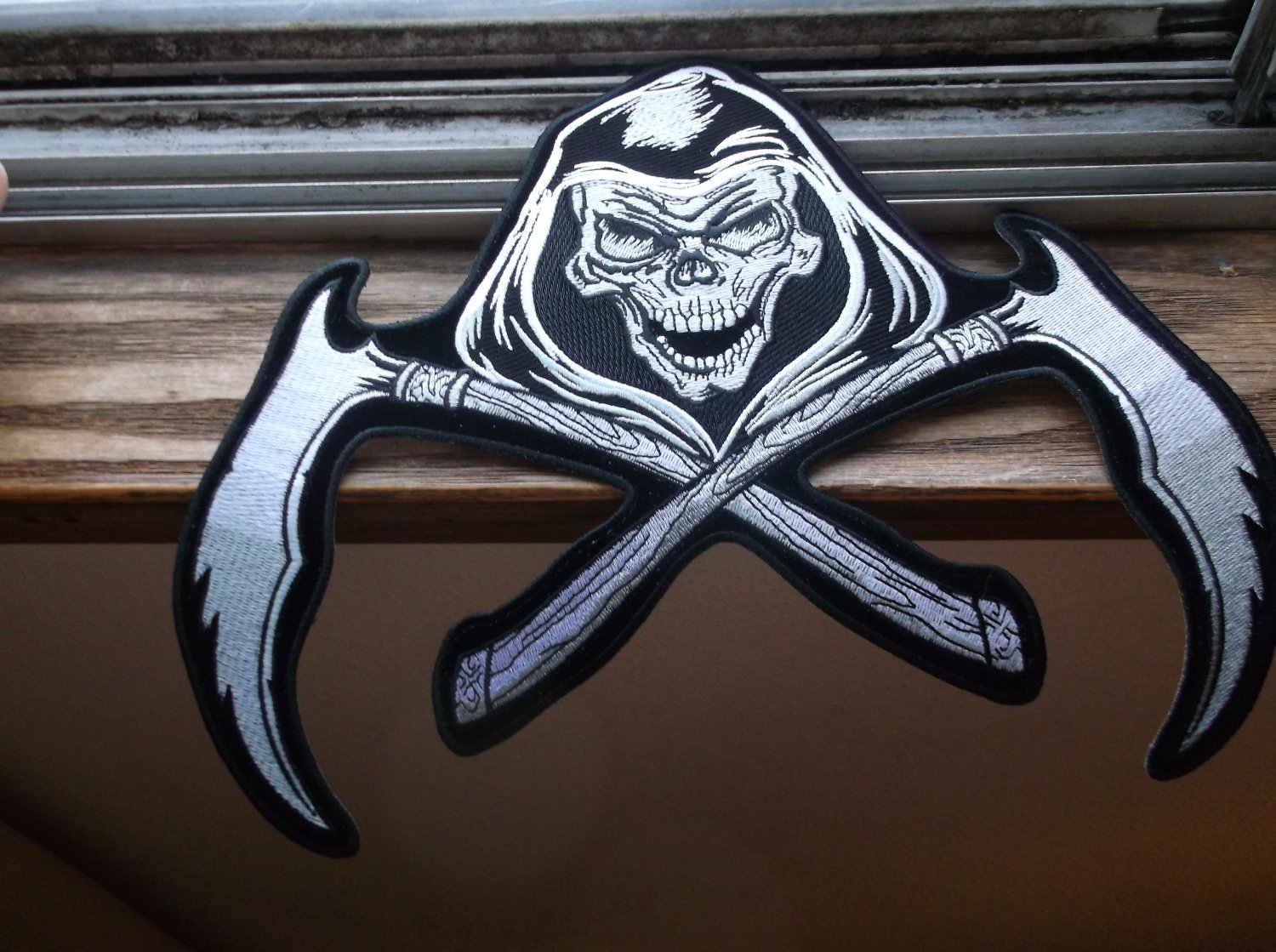 REAPER AND SCYTHES BIKER PATCH
