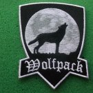 WOLFPACK HOWLING WOLF AND MOON BIKER PATCH