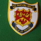 USS PARSONS DDG-33 SHIP PATCH