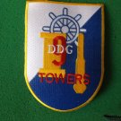 USS TOWERS DDG-9 SHIP PATCH